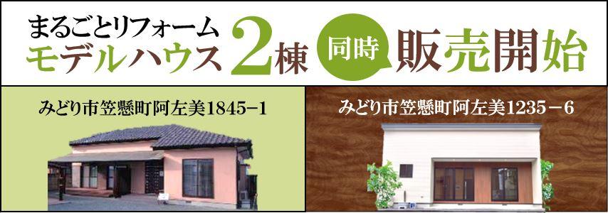 モデルハウス2棟同時販売開始!